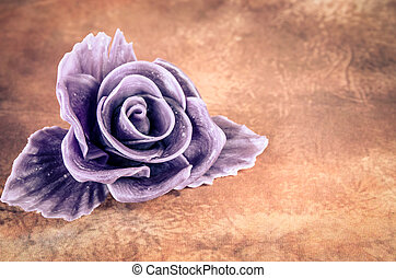 beautiful purple rose - purple rose against brown background