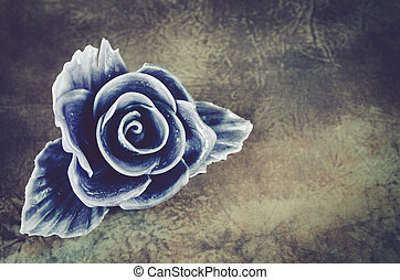 purple rose flower - beautiful purple rose against grunge...