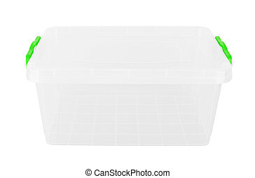 Plastic container isolated on white background