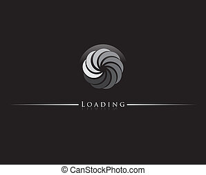 loading icon - Round progress loading indicator illustration...