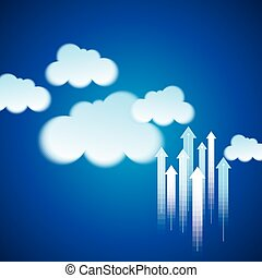 Cloud computing business concept
