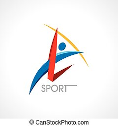 sports activity icon, design elemen