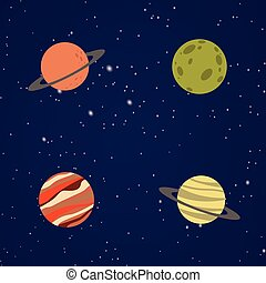 Abstract Cartoon planets