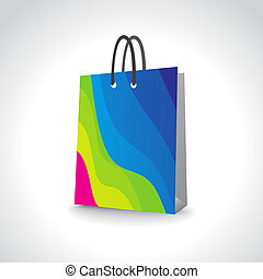 shopping bag, add your own design or logo, illustration