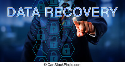 Manager Pointing At DATA RECOVERY - Manager is pointing at...