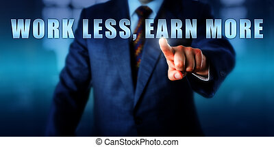 Entrepreneur Pushing WORK LESS, EARN MORE - Entrepreneur is...