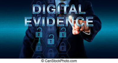 Cyber Investigator Touching DIGITAL EVIDENCE - Cyber...