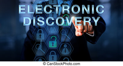 Forensic Examiner Pressing ELECTRONIC DISCOVERY - Forensic...