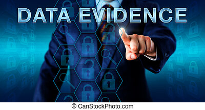 Investigator Pointing At DATA EVIDENCE - Digital forensic...