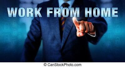 Entrepreneur Pushing WORK FROM HOME - Entrepreneur is...