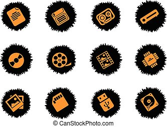 Data analytic simply icons - Data analytic icons set for web...