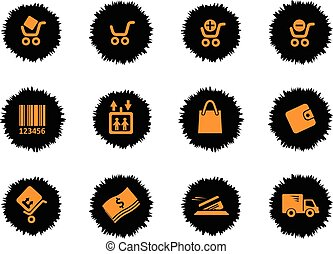 Shopping icons set - Shopping icon for web sites and user...