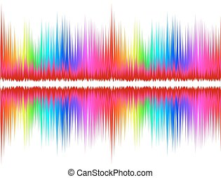 Color sound wave.  - A background with color sound wave.