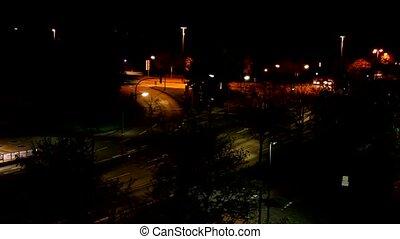 German street at night - Timelapse