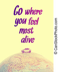 Miniature car traveling quote - Miniature car traveling the...