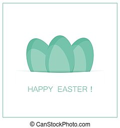 easter card with eggs. vector