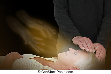 Spiritual Healing Session - Male healer channeling healing...
