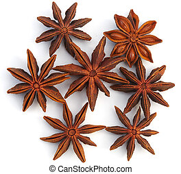 Anisetree on white background - Spices. Anisetree for...