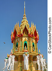 Budhist temple in Thailand - Budhist temple in with...