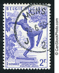 Foolish Virgin - BELGIUM - CIRCA 1955: stamp printed by...