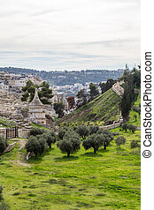 Tomb of Absalom, Jerusalem - Tomb of Absalom with a conical...