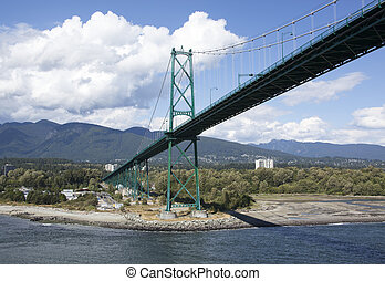Lions Gate Bridge - The Lions Gate Bridge over Burrard Inlet...