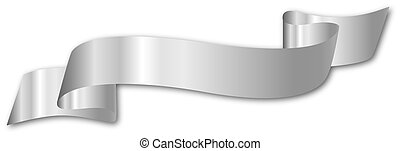 Silver Streamer - an illustration of a silver ribbon as a...