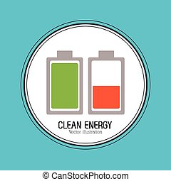 Save energy design - Save energy concept with eco icon...