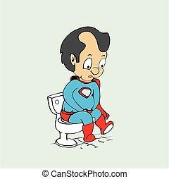 funny super hero cartoon