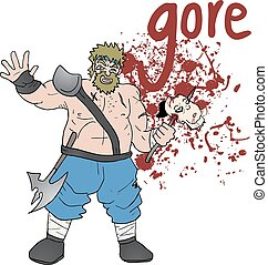 Gore barbarian - Creative design of Gore barbarian