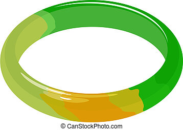 jade bracelet - Illustration set of jade bracelet in vector.