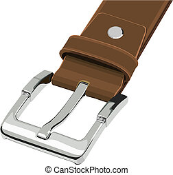 Belt buckle - Illustration set of belt buckle in vector.