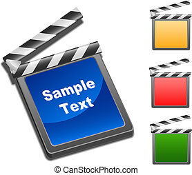 movie clap - Illustration set of movie clap in vector