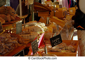 delicatessen - french delicatessen detail in a market