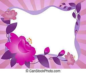 Framework, flower - Framework with the image of beams,...