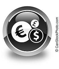 Finances icon glossy black round button