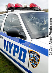 NYPD - closeup of a new york police department patrol car