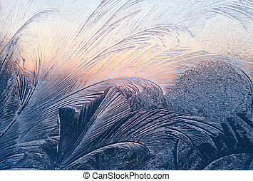 frost and sunlight texture - frost and sunlight on winter...