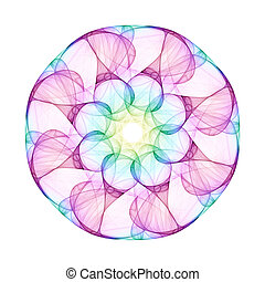 mandala - An illustration of a nice colorful mandala