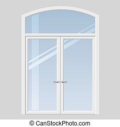 Door to the terrace - Double doors open onto a terrace or...