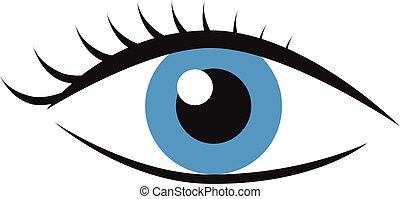 Eye with eyelashes