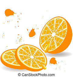 orange with the two slices
