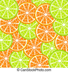 lime and orange background - Vector illustration of lime and...