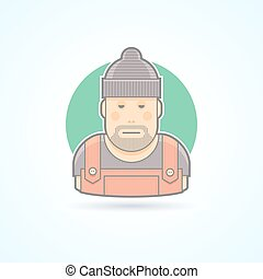 Worker, repairman, master icon Avatar and person...