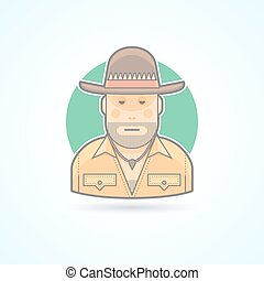 Australian hunter, bushman icon Avatar and person...