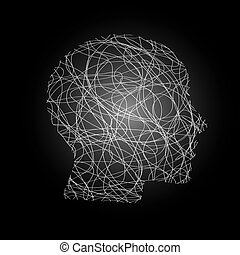 Abstract Head - an abstract illustration of a bright...