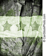 Military Grunge background with abstract stars on canvas