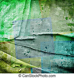 abstract background with colorful squares on canvas