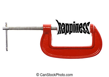 "Compressed hapiness concept - The word ""happiness"" is..."