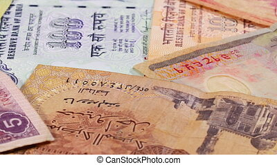 Different asian currency bank notes